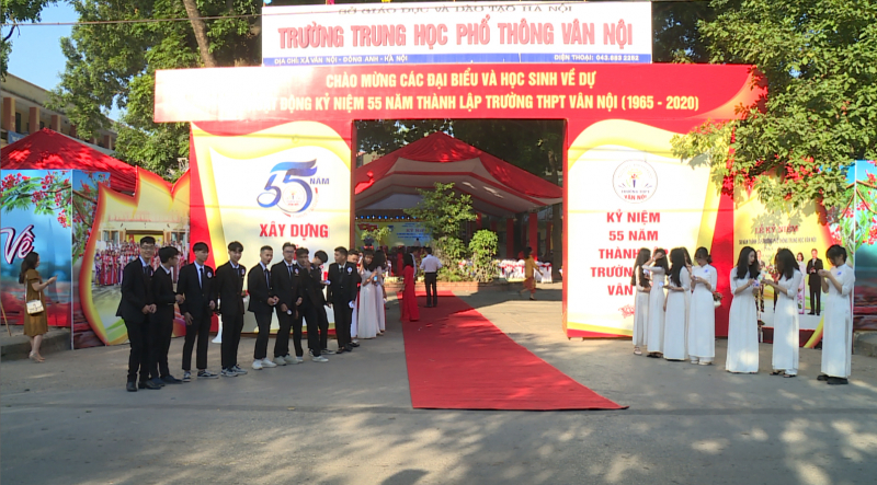 Lễ khai giảng tại trường THPT Vân Nội năm học 2018-2019