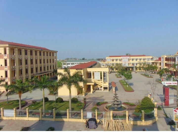 Toàn cảnh khuôn viên trường THPT Gia Lộc