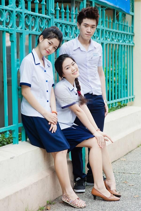 Bộ đồng phục mới của trường THPT Lê Thị Hồng Gấm