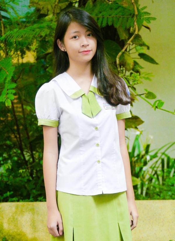 Bộ đồng phục nổi bật của Trường THPT Nguyễn Thị Diệu