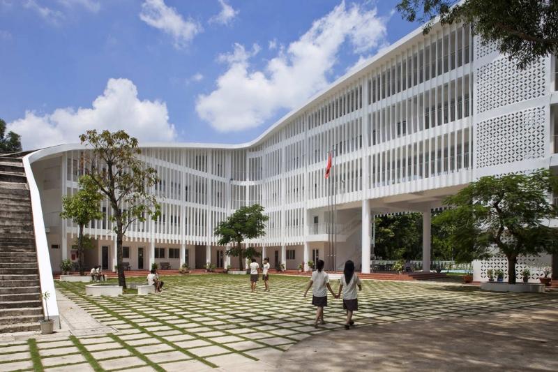 Lối kiến trúc độc đáo của ngôi trường