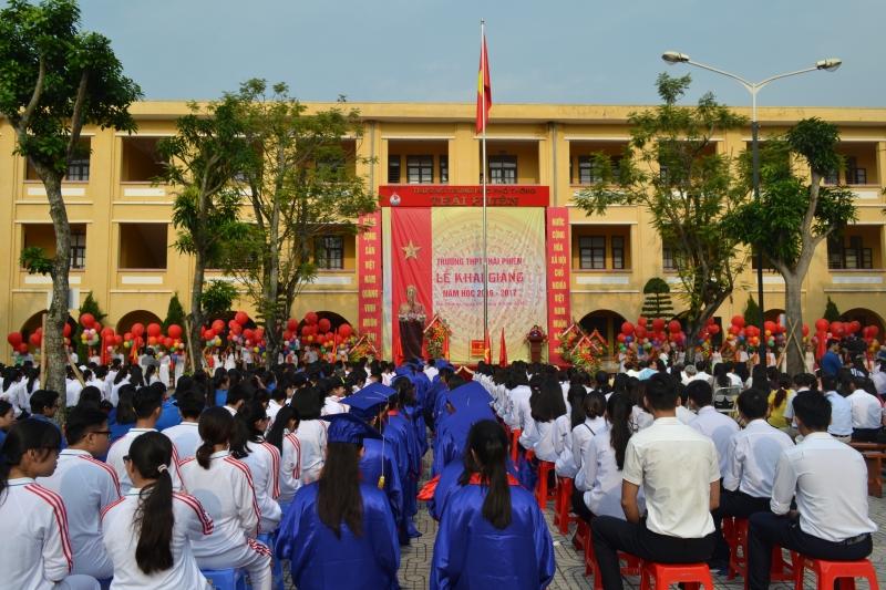 Hoạt động tập thể của trường THPT Thái Phiên