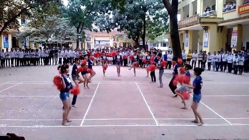 Một tiết mục nhảy của học sinh trong trường
