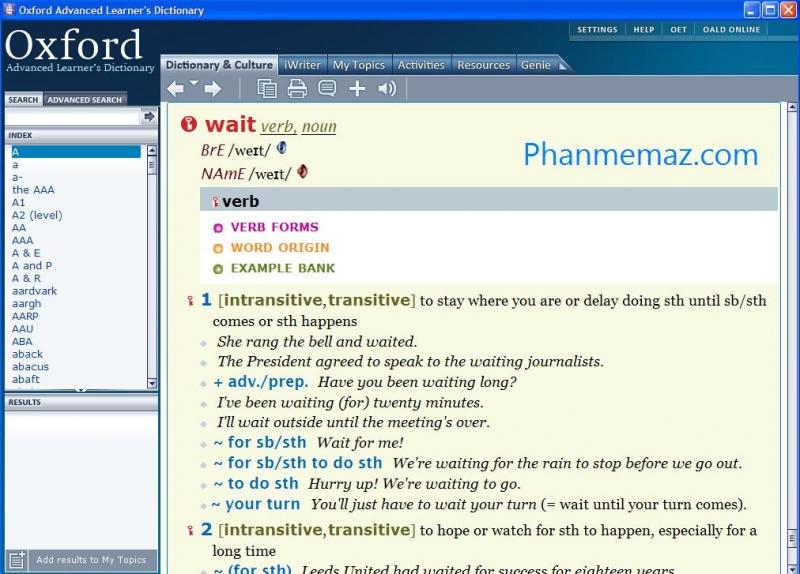 Những bạn nào chuyên về Anh Văn thì không ai là không biết đến từ điển Oxford, đây là bộ từ điển đầy đủ nhất và dịch sát nghĩa nhất, nó giúp bạn rất nhiều trong quá trình học tập và làm việc.