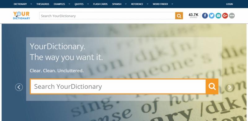 Từ điển học tiếng Anh Your Dictionary