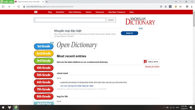 Từ điển trực tuyến MacMillan