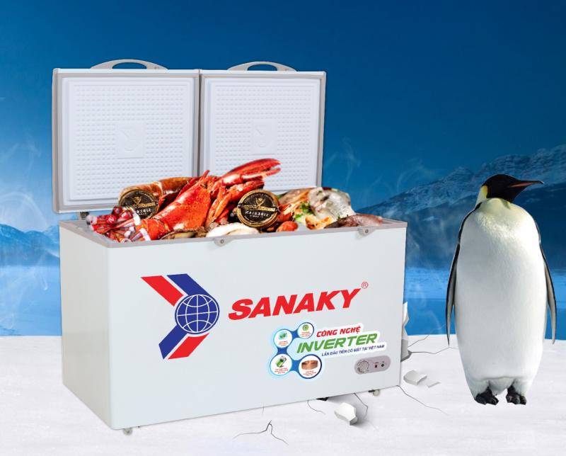 Tủ đông mát Inverter Sanaky VH-2899W3 giúp thực phẩm tươi ngon