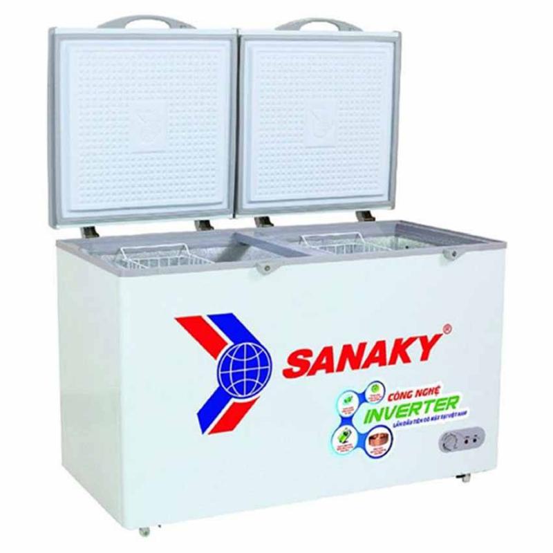 Tủ đông Sanaky Inverter VH-5699HY3 dung tích lớn, lòng tủ sâu đựng dược khối thực phẩm lớn