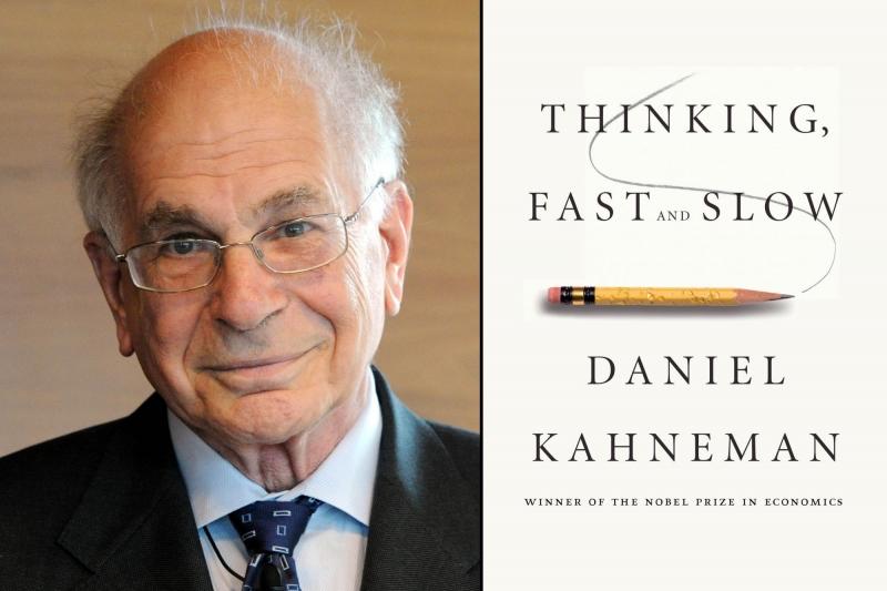 Daniel Kahneman bên cạnh cuốn sách của mình (Nguồn: Sưu tầm)
