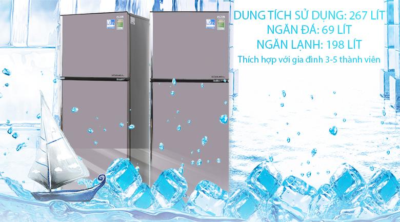 Tủ lạnh Aqua Inverter 267 lít AQR-I287BN PS