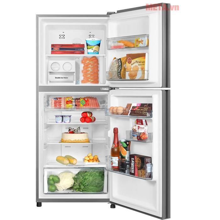 Tủ lạnh Aqua Inverter AQR-IG296DN mặt gương