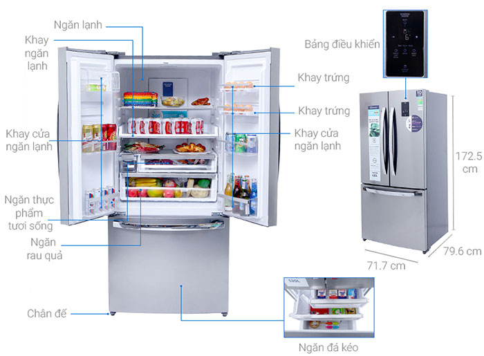 Cấu tạo của Tủ Lạnh Electrolux EHE5220AA