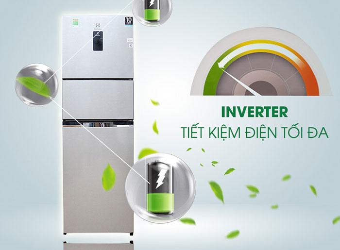 mức tiêu thụ điện năng chỉ khoảng từ 1,18 kW/ngày, tủ lạnh Electrolux EME2600MG sẽ giúp tiết kiệm được một khoản chi phí hàng tháng