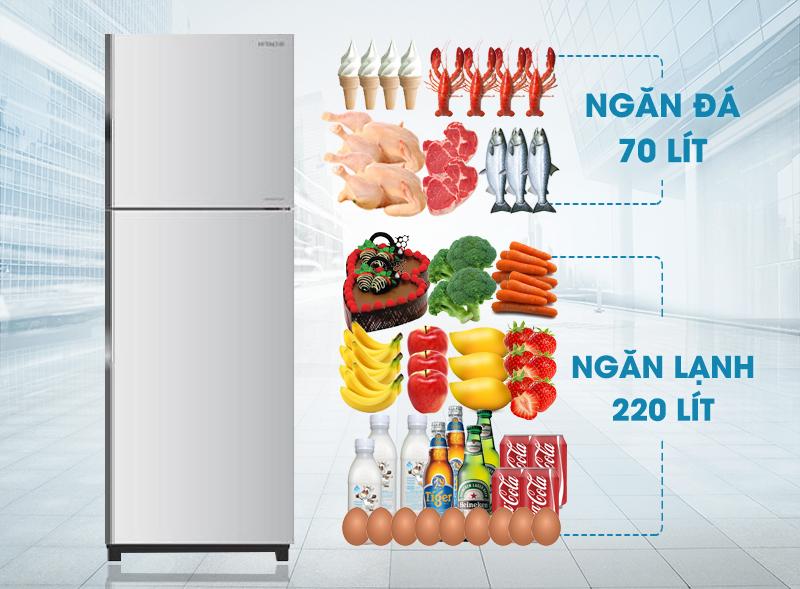 Tủ lạnh Hitachi 290 Lít R-H350PGV4 INX