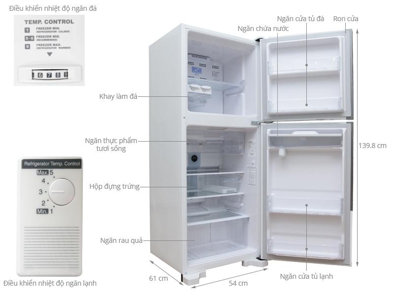 Tủ lạnh Hitachi R-T190EG1D MWH 185 lít