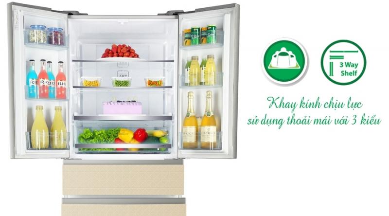 Ngăn trữ thực phẩm của tủ lạnh Aqua AQR-IFG55D 455 lít cho phép người dùng có thể điều chỉnh nhiều mức nhiệt độ khác nhau