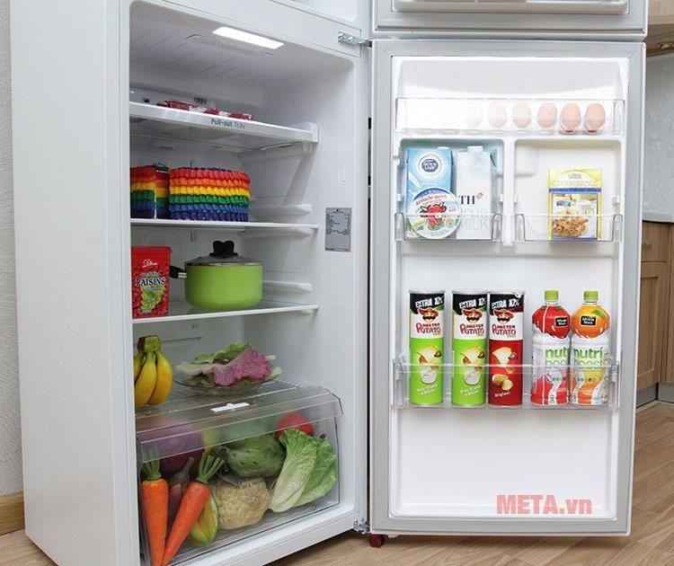 Tủ lạnh LG inverter 315 lít GR-L333BF (Trắng) còn được trang bị hệ thống kháng khuẩn khử mùi giúp tủ lạnh luôn sạch sẽ
