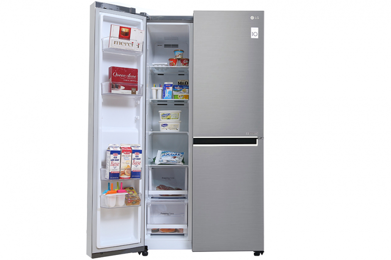 Tủ lạnh side by side LG GR-B247JS có dung tích tới 626 lít cho phép người dùng đựng được đa dạng thực phẩm