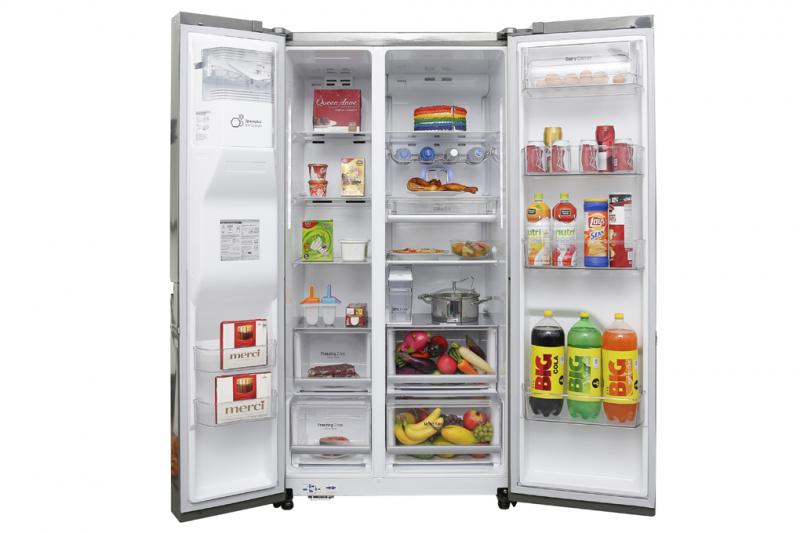 Tủ lạnh LG GR-P247JS được trang bị hệ thống khử khuẩn và loại bỏ mùi tiên tiến Hygiene Fresh giúp loại bỏ đến 99.999% chất gây mùi trong thức ăn