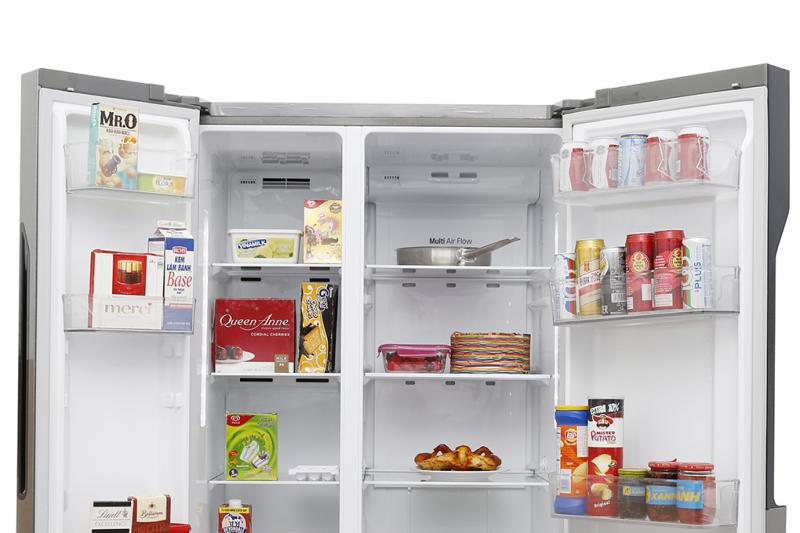 Tủ lạnh LG inverter GR-B247JDS được trang bị hệ thống khí lạnh đa chiều, luồng khí lạnh bên trong tủ sẽ được luân chuyển đến từng ngóc ngách