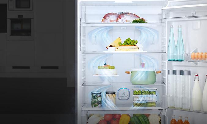Tủ lạnh LG sở hữu công nghệ biến tần Inverter, đây là công nghệ giúp người sử dụng tiết kiệm đến 50% điện năng tiêu thụ