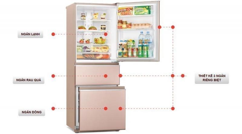 Tủ lạnh Mitsubishi MR-CX41EJ-BRW-V 326L