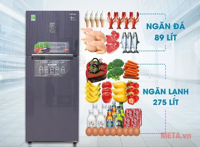 Tủ lạnh Samsung Digital Inverter 364L RT35K5532UT/SV: