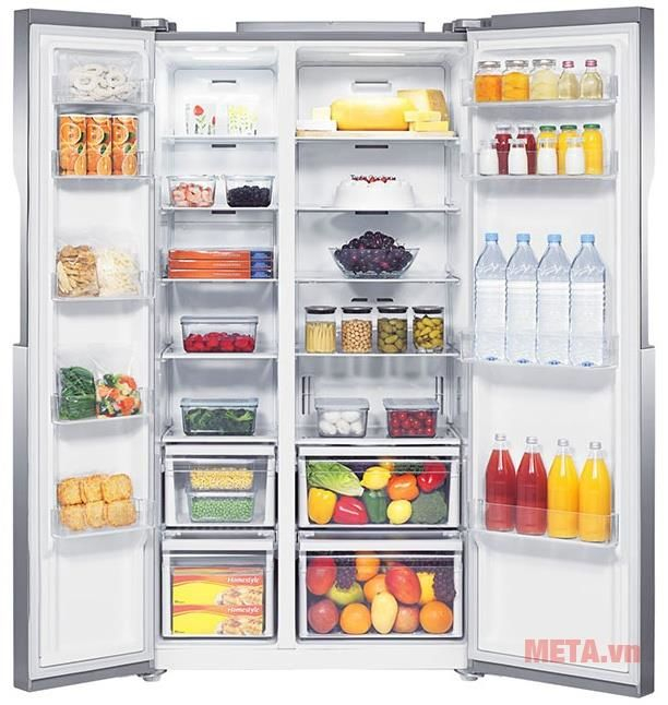 Tủ lạnh tiết kiệm điện Samsung sử dụng hệ thống tháp đèn LED chiếu sáng thông minh, ít tỏa nhiệ