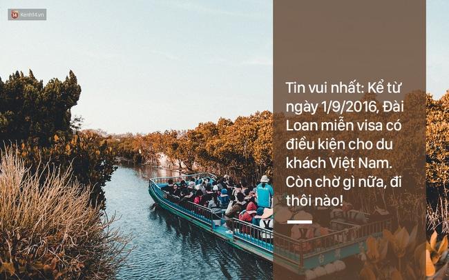 Từ ngày 01/09/2016 du khách Việt được miễn visa có điều kiện khi đến Đài Loan