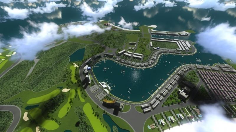 Toàn cảnh dự án Tuần Châu Marina Hạ Long