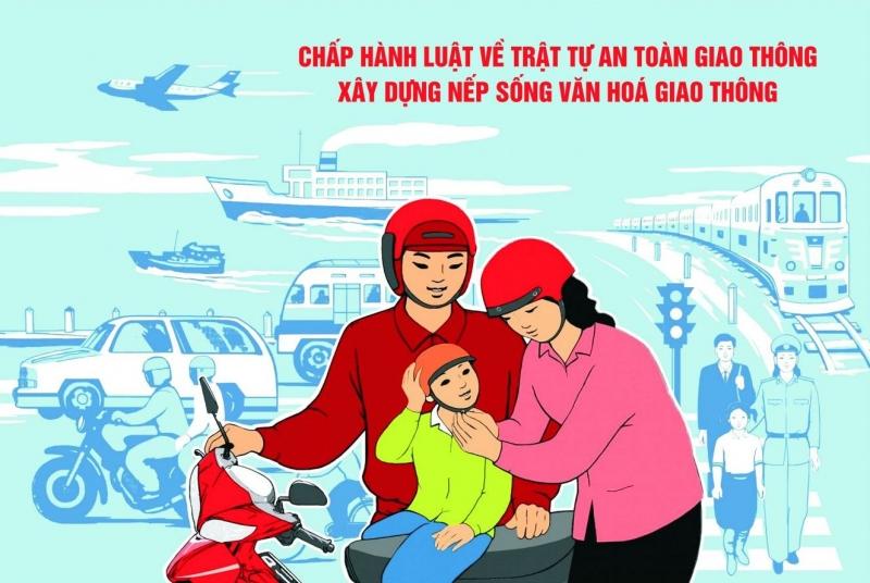 Hình ảnh tuyên truyền tuân thủ luật giao thông