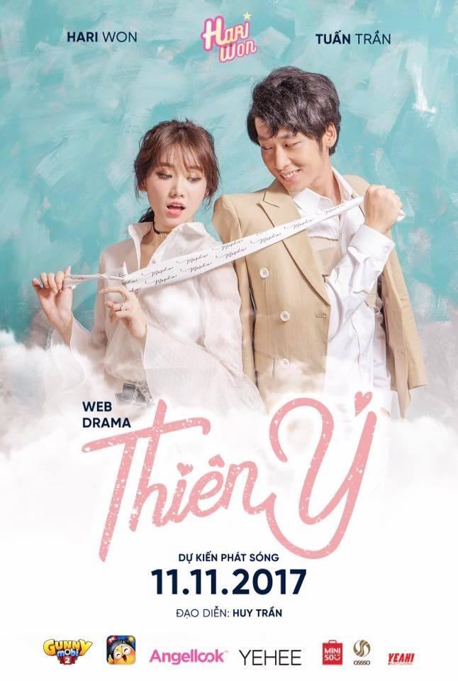 Tạo hình của Tuấn Trần và Hari Won trong web drama Thiên Ý