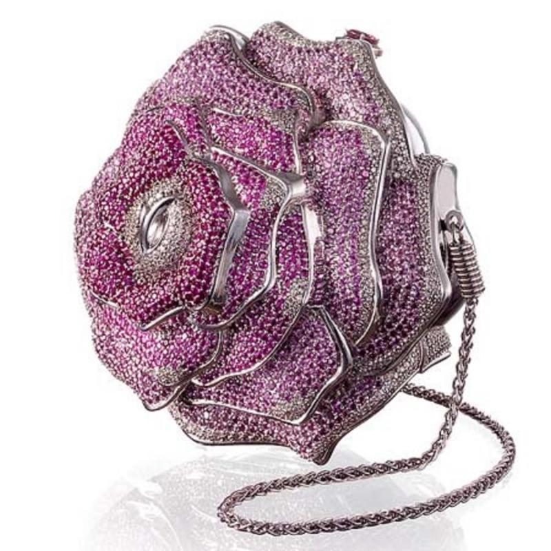 Túi bông hồng quý Leiber