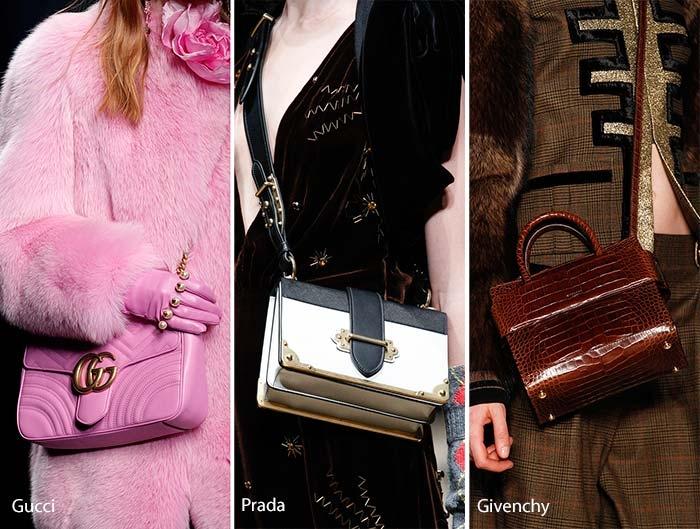 Túi mini chữ nhật của nhiều thương hiệu nổi tiếng