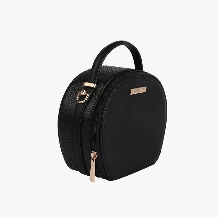 Túi xách vân da rắn màu đen