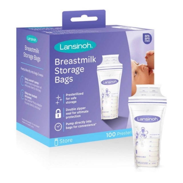 túi trữ sữa Lansinoh