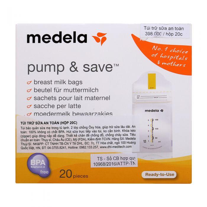 Túi trữ sữa an toàn Medela Hộp 20C