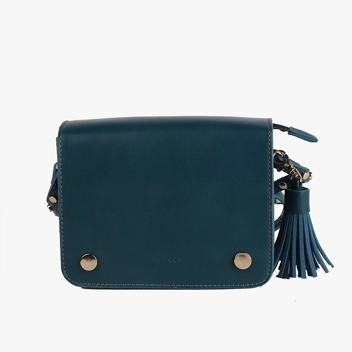 Túi xách tua rua màu xanh cổ vịt