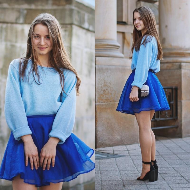 Trang phục màu xanh da trời hợp với người tuổi Dần