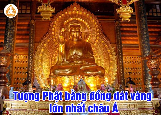 Tượng Phật bằng đồng dát vàng lớn nhất châu Á