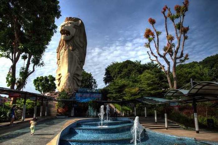 Tượng sư tử biển Sentosa ở Singapore