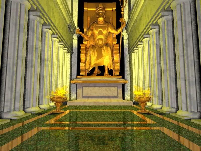 Tượng thần Zeus ở Olympia