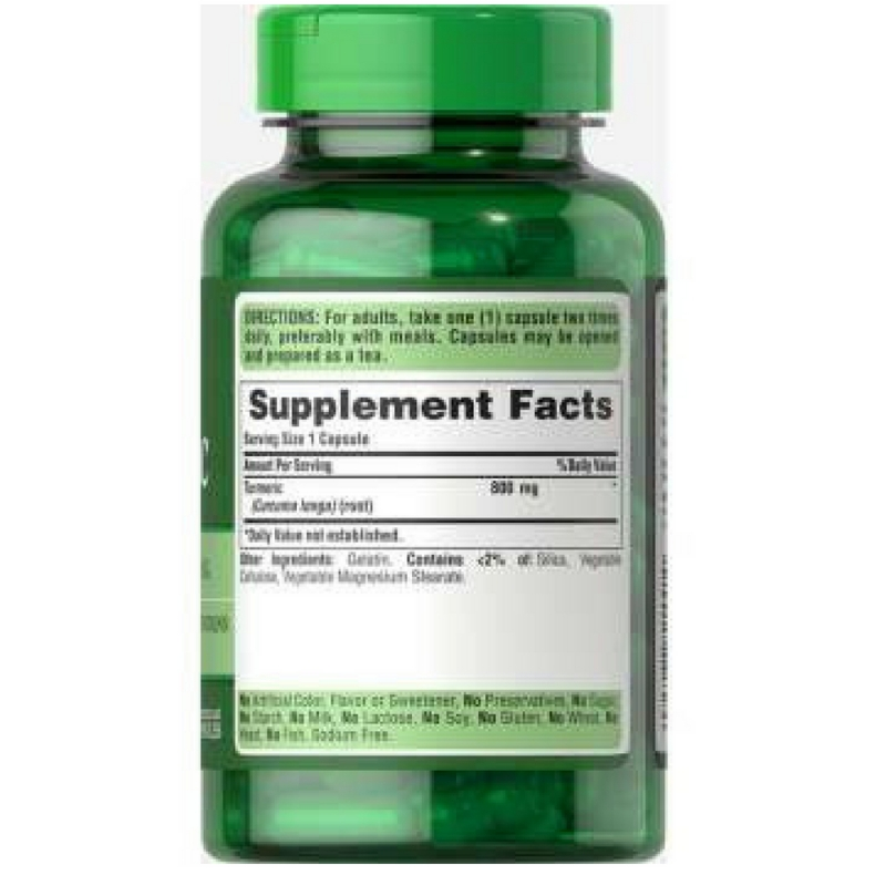 Turmeric 800 mg - Ngăn ngừa tổn thương niêm mạc đường ruột