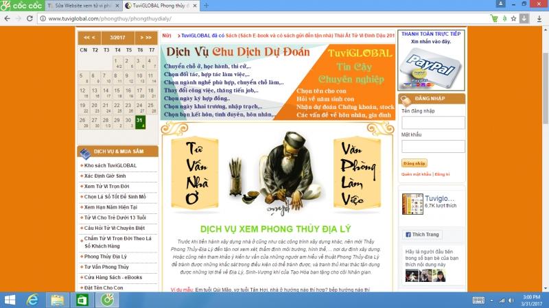 tuviglobal.com trang Web tử vi đa dạng, chuyên nghiệp