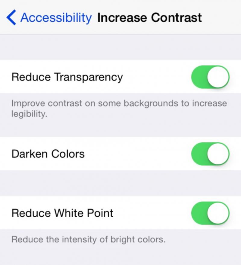 Tắt một số hiệu ứng trên iPhone