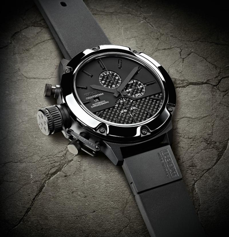 Màu đen huyền bí tạo nên một sự quyến rũ khó cưỡng. U-Boat Classico Titanium giá khoảng 75 triệu/chiếc.