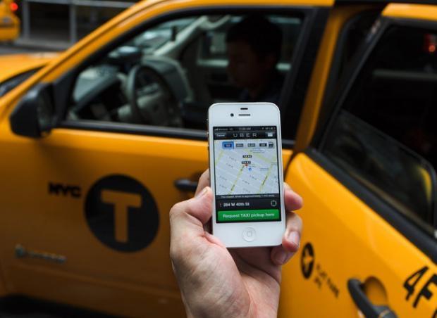Ứng dụng Uber Taxi trên điện thoại