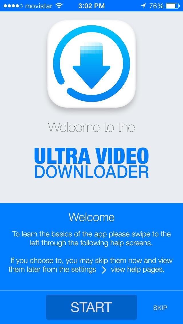 Ultra downloader cẩn thận hướng dẫn người dùng khi mới tải về ứng dụng này