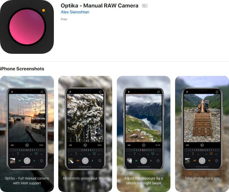 Optika – Manual RAW Camera