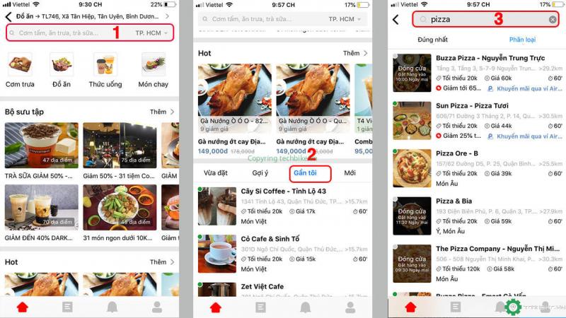 Ứng dụng đặt đồ ăn - Now